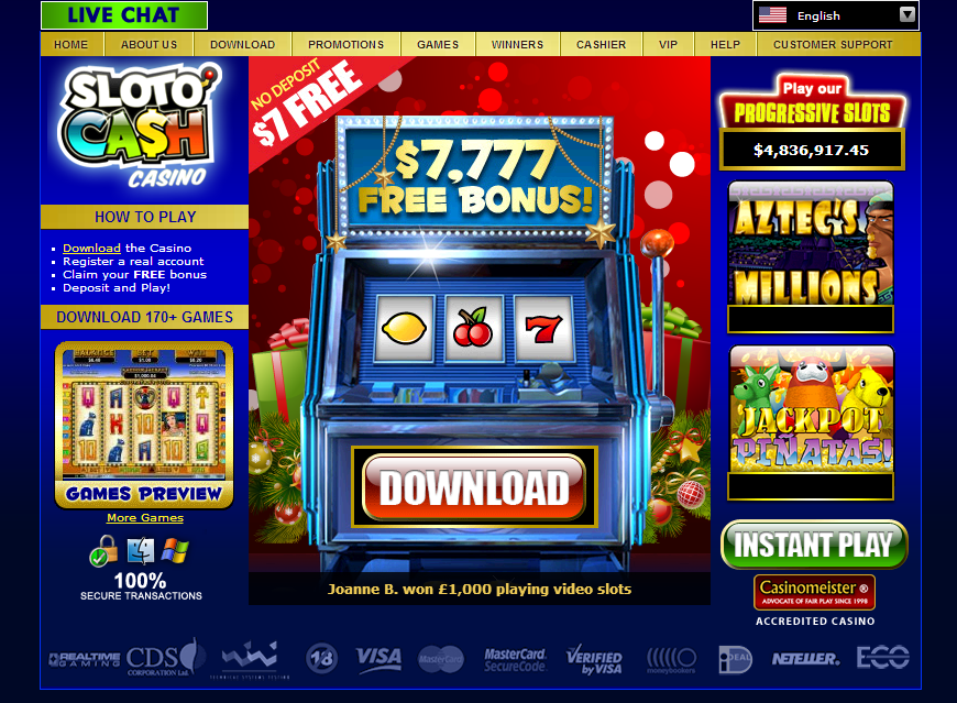 online casino cash games